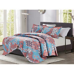 BRAND NEW IN BAG 3 PC Patchwork Quilt Set (KING)